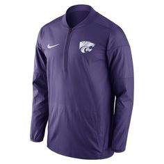 Nike™ Men's Kansas State University Lockdown 1/2 Zip Jacket (Purple, Size X Large) - NCAA Licensed Product, NCAA Men's Fleece/Jackets at Academy Sp...