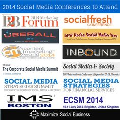 There's still time left to attend many social media conferences before the year ends!