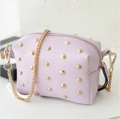 Mini Rivet Embellished Single Shoulder Bag Light Purplehttp://www.clothing-dropship.com/shoulder-bag-c2132