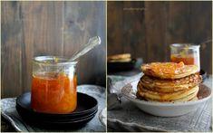 Pancakes alla ricotta con marmellata di arance e pompelmi e sciroppo di miele alla birra ed una punta di fleur de sel alla vaniglia