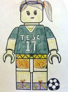 Artsonia Art Museum :: Artwork by Katerina162 - Lego Portrait