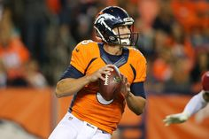 Trevor Siemian Photos Photos - Quarterback Trevor Siemian #3 of the Denver Broncos looks for a receiver against the Arizona Cardinals during preseason action at Sports Authority Field at Mile High on September 3, 2015 in Denver, Colorado. The Cardinals defeated the Broncos 22-20. - Arizona Cardinals v Denver Broncos