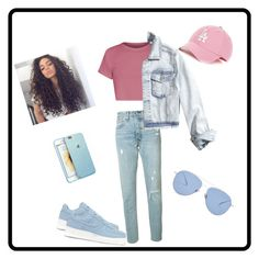 """#fashionKS"" by keilastylist ❤ liked on Polyvore featuring Levi's, NIKE, '47 Brand, Hollister Co. and Kaleos"