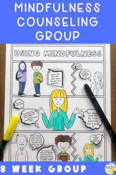 Mindfulness activities for kids. 8 week mindfulness counseling group for upper elementary and middle school students. Includes mindfulness strategies, deep breathing exercises, and guided meditations. #brightfuturescounseling #elementaryschoolcounseling #elementaryschoolcounselor #schoolcounseling #schoolcounselor #middleschoolcounselor #middleschoolcounseling #mindfulness #mindfulnessforkids Elementary School Counselor, School Counseling, Elementary Schools, Mindfulness For Kids, Mindfulness Activities, World History Lessons, Bullying Prevention, Character Education, Physical Education