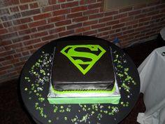 Superman Groom's Cake