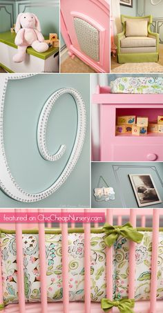 Details from Laila Ali's nursery #celebrity #baby #decor Love it!