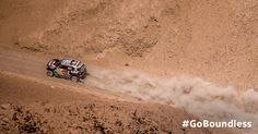 On track. MINI goes all-out for the finish line at the Dakar Rally.