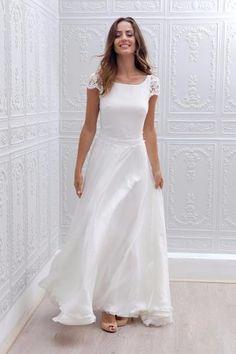 Resultado de imagen para vestidos blancos de fiesta con encaje