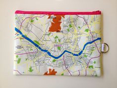 Seoul Zipper pouch – printed with the map of Seoul, South Korea, Made to order