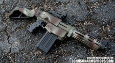 Jungle Camo Nerf Retaliator by JohnsonArms on DeviantArt Airsoft Guns, Weapons Guns, Nerf Gun Attachments, Nerf Snipers, Modified Nerf Guns, Cool Nerf Guns, Nerf Mod, Steampunk Weapons, Baby Park