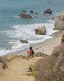El Matador State Beach Take a steep dirt trail down to some stairs to enter one of the most beautiful beaches in Malibu. With caves & large rocks, incredible views, look down on boulders & kelp forests. Plenty of sand for sunbathers & good for bodysurfers/boarders. On busy weekends, the beach will be manned with a lifeguard. Hours: 8am-sunset Parking: $9 for the lot & limited free parking on P.C.H. Portable restrooms at trailhead 32215 Pacific Coast Highway, Malibu