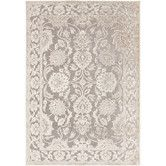 Found it at Wayfair - Basilica Gray/Parchment Rug.  Visc chenille. 460.00