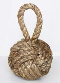 DIY Nautical Rope : DIY Rope knot bookend
