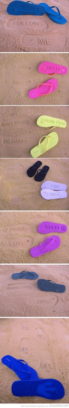Creative beach slippers
