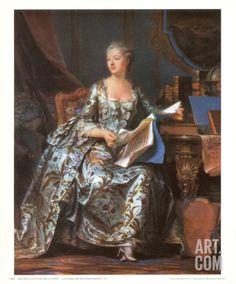 Madame Pompadour, 1755 Art Print by Maurice Quentin de La Tour at Art.com