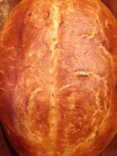 Elizabeth Obsesses...: Romertopf Bread: The easiest loaf of bread you'll ever make.