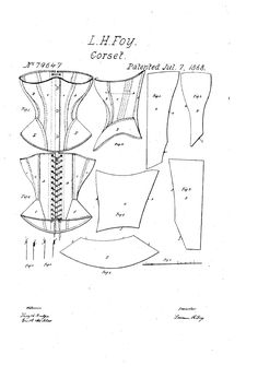 1868 Lavinia Foy Patent US79647 - IMPROVEMENT IN CORSETS - Google Patents