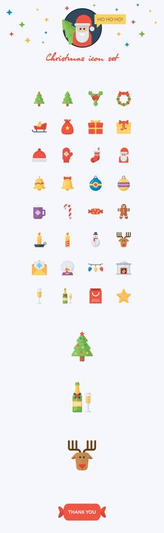 Christmas flat icon set on Behance Svg Shapes, Logo Clipart, Website Icons, Icon Design, Logo Design, Christmas Icons, Ui Design Inspiration, Symbol Logo, Pictogram