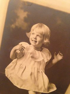 Antique Cabinte Card Photograph  Little Girl in White Dress