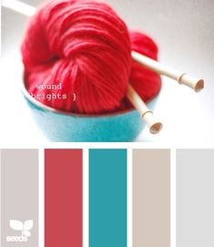 I love red and turquoise together. I need to remember these neutral accents to work with them.