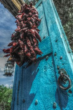 Beautiful gate with chile ristra...