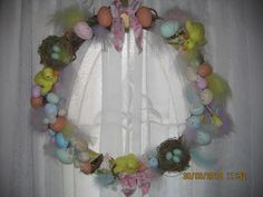 My Easter Wreath. First time i discovered the wonders of the glue gun!