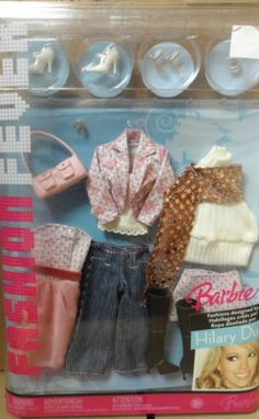 2006 Barbie Fashion Fever Fashions Designed by Hilary Duff | eBay