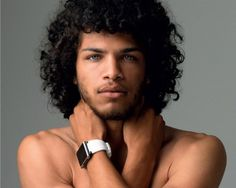 extremely handsome man with hypnotic eyes, sexy hair