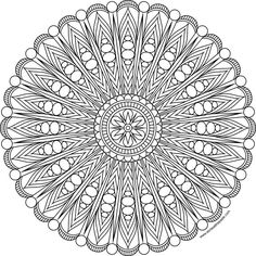 Free printable mandala to color in jpg and transparent png format