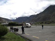 Upper Mustang Trekking goes Through Jomsom Airport of Nepal. Look at following link for more details.