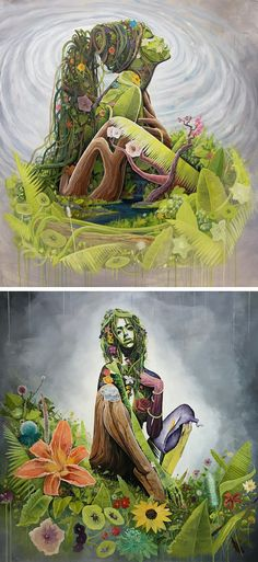 Artist Brian Kirhagis explores the concept of Mother Earth.