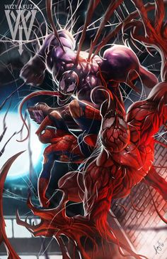 Venom vs spiderman vs carnage