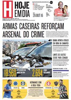 Capa do dia 26/10/2016 #HojeEmDia #Jornal #Notícias #News #Newspaper