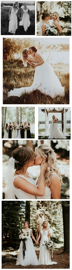True Love. Two gorgeous brides  Erin & Madison. A lesbian wedding to be inspired by. Photography by Victoria Carlson Photography #WeddingIdeasPhotography
