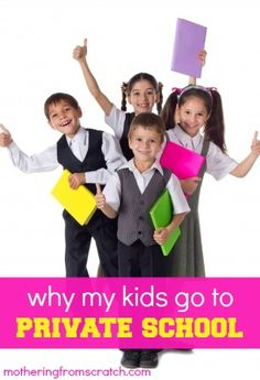 My children will have a private secondary education