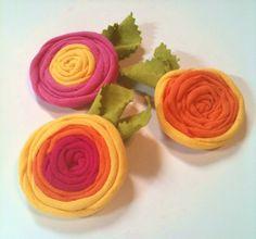 Rolled Rose Flower Clip