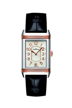 @Jaeger-LeCoultre has been known to craft some beautiful collections of ladies watches, and this Grande Reverso is no different.    What do you think of the combination of pink gold and steel? Doesn't it just pop?