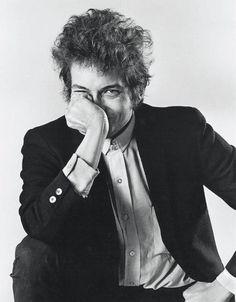 """""""Bob Dylan, Hand to Face""""  Taken by Daniel Kramer in 1965"""