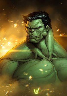Hulk, Álvaro Jiménez on ArtStation at https://www.artstation.com/artwork/NeyVg