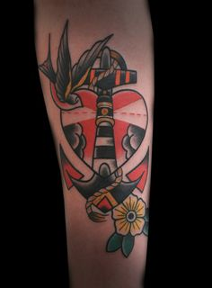 Beautiful traditional anchor by Saschi McCormack