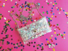 Holographic small crossbody bagPhone bagSmall by YPSILONBAGS
