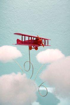 DIY Biplane Airplane Cake Topper …