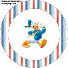 Making My Party!: Donald Duck - Complete Kit with frames for invitations, labels for goodies, souvenirs and pictures!