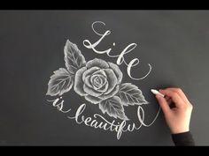 学校のチョークでもできるチョークアートを活かした黒板アート!(chalkart:chalkboard) - YouTube
