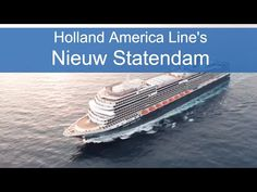 """Today the Holland America Line family celebrates the addition of Nieuw Statendam to our fleet, and it's a proud moment for everyone involved,"" said Holland America Line, Holland America Cruises, Holland Cruise, Norway, Places To Visit, Ships, Boat, In This Moment, Travel"