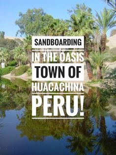 Need adventure? Then take a trip to the #Oasis of #Huacachina in #Ica to go #SandBoarding! It is one of the beautiful and unique #TreasuresOfTraveling you will find in #Peru! Have you been sand boarding before? Pictures Of Beautiful Places, Beautiful Places In The World, Travel Route, Peru Travel, Huacachina Peru, Adventures Abroad, South America Travel, Amazing Destinations, Travel Destinations