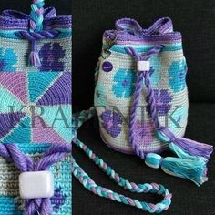 Mochila Mini Flower power Tapestry Loom, Tapestry Bag, Tapestry Crochet, Crochet Dog Sweater, Knit Or Crochet, Crochet Chart, Crochet Patterns, Mochila Crochet, Sweet Bags
