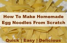 I just saw a post on a homesteading Facebook page about making egg noodles. It had 1000s of shares and likes… I was really surprised that so many people didn't know how to make their own homemade egg noodles, so I thought I'd do a…