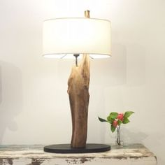 Wooden Teak Root Table Lamp - Ranting