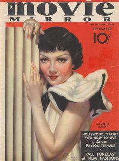 claudette colbert movie magazine covers | magazines claudette colbert v magazine carole lombard ginger rogers ...